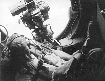 View from the B29 Tailgunner station in flight